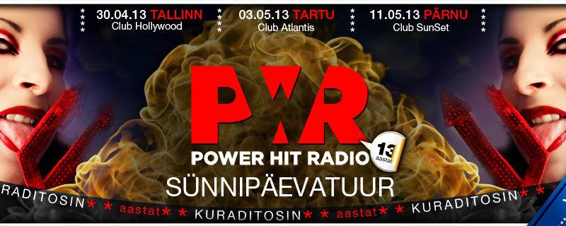 Power Hit Radio saab 13-aastaseks!