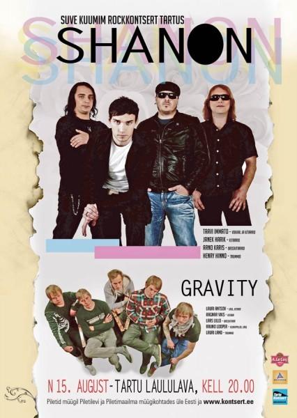 15. august Tartu laululaval esinevate Shanoni & Gravity kontserdipublik ei pea vihma kartma!