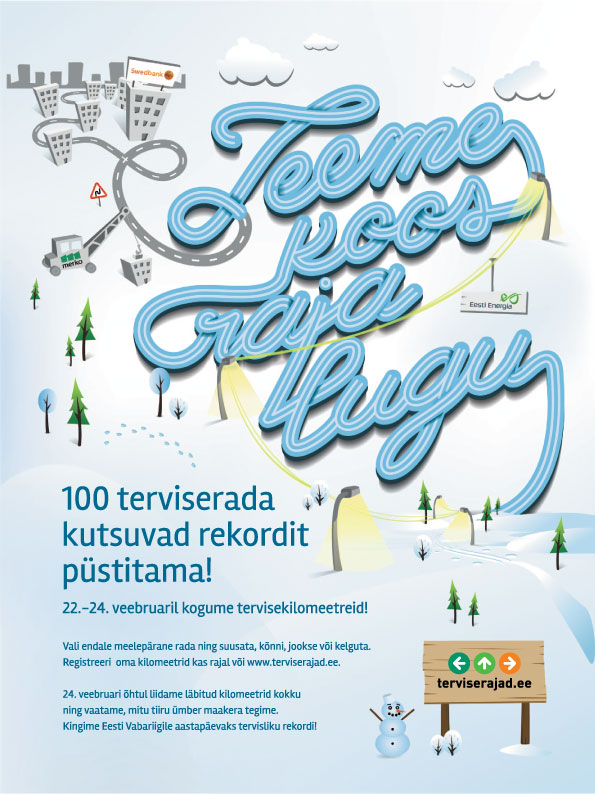 Eesti Terviserajad kutsuvad 22.-24. veebruaril püstitama terviserekordi