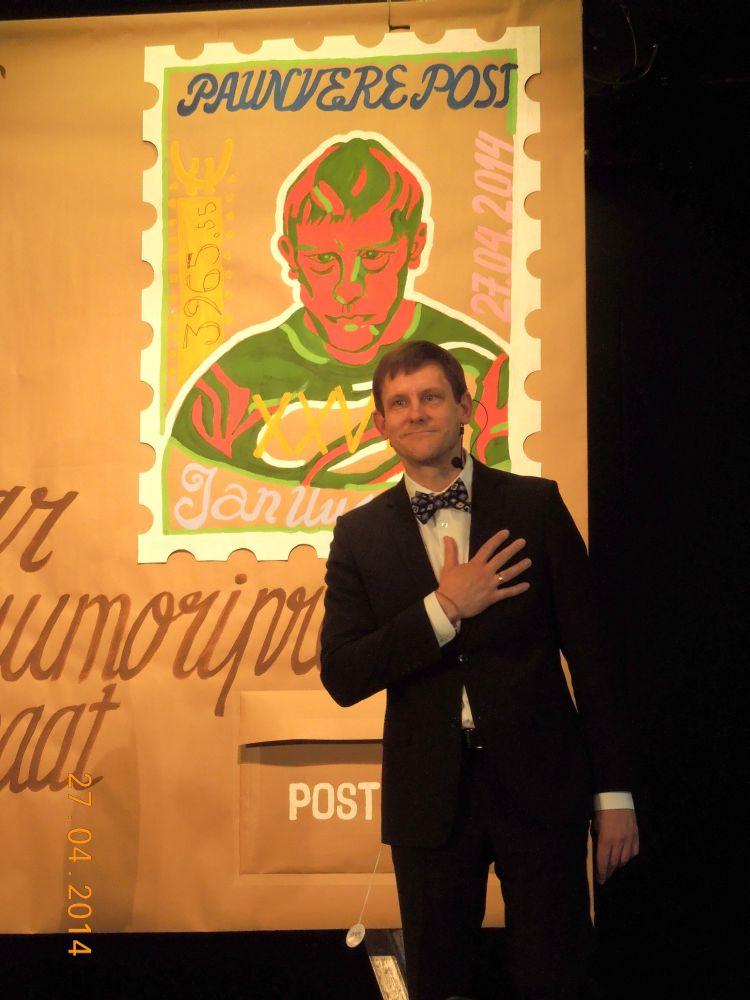 Näitleja Jan Uuspõldu tunnustati Palamusel Oskar Lutsu huumoripreemiaga