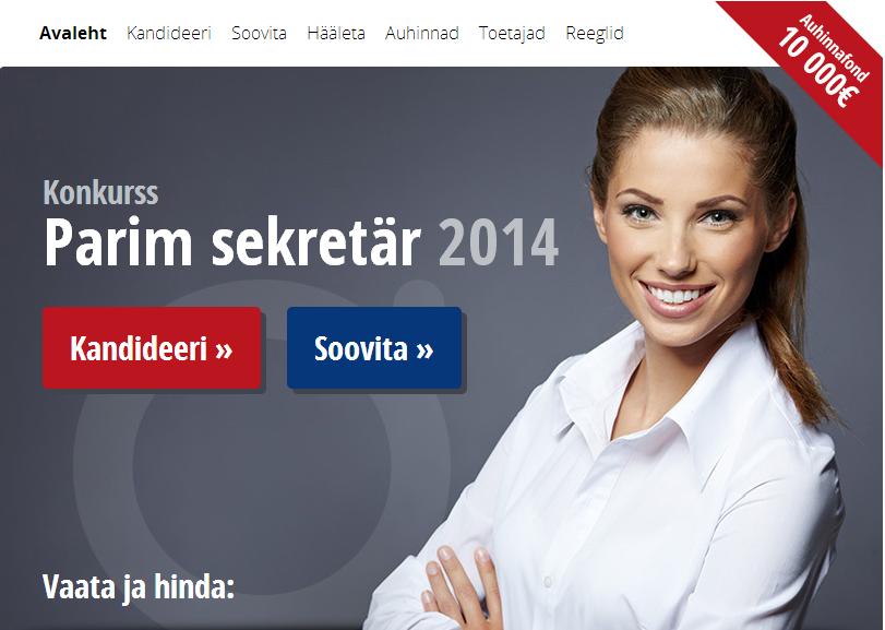 Vaata, millised kaunitarid pürgivad Eesti parimaks sekretäriks