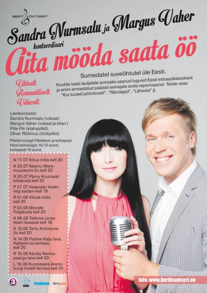 Sandra Nurmsalu ja Margus Vaheri uus lugu ja kontserttuur!