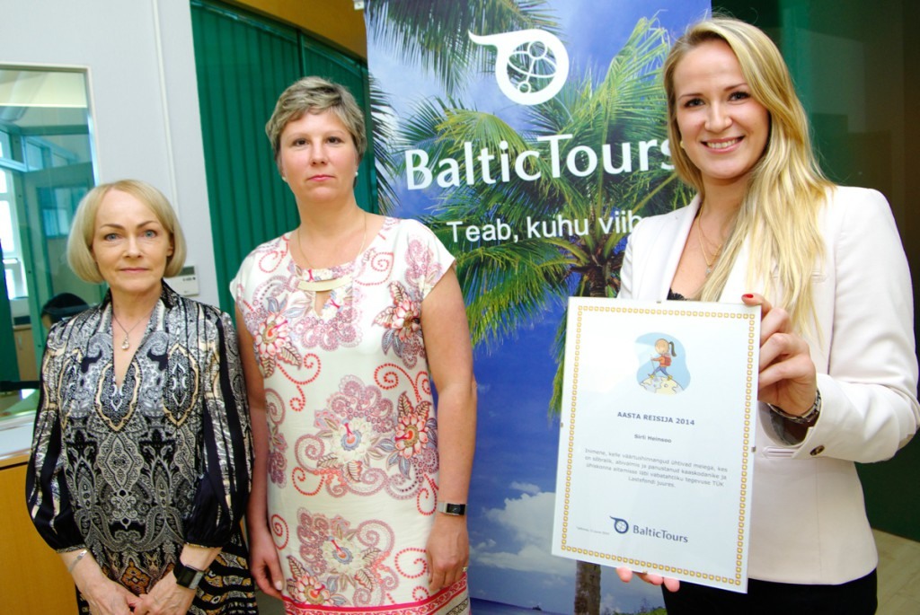 Baltic Tours Aasta Reisija 2014 tiitli pälvisid TÜK Lastefondi vabatahtlikud Sirli Heinsoo ja Maria Mandri