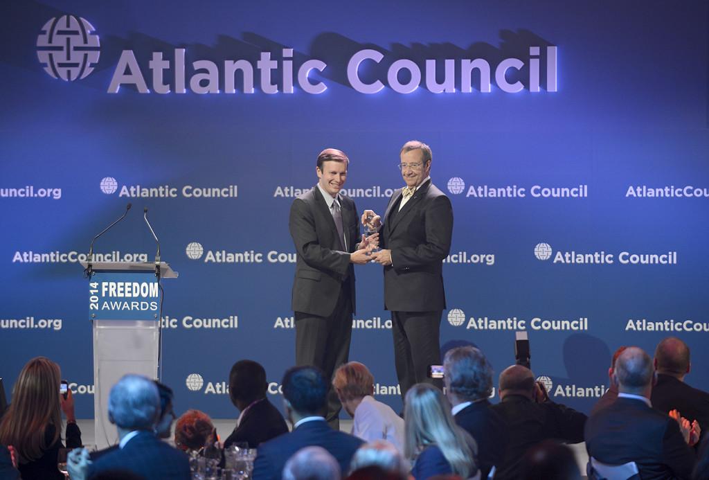President Ilvesele omistati Atlandi Nõukogu Vabaduse auhind