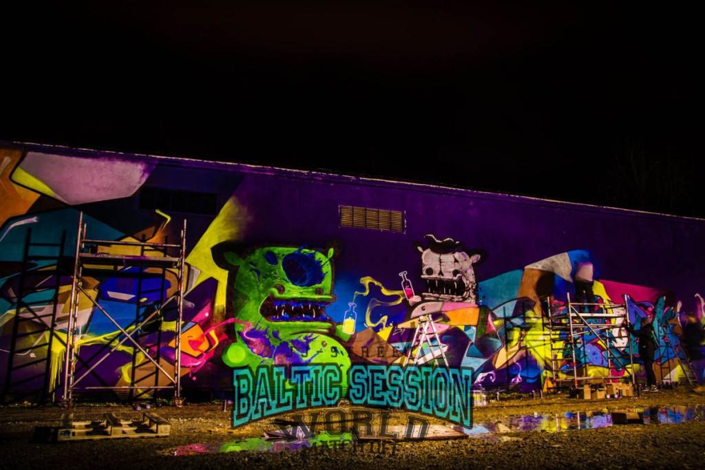 JJ-Street Baltic Session: Soditud seinad muutuvad grafitifännide abil meistriteosteks