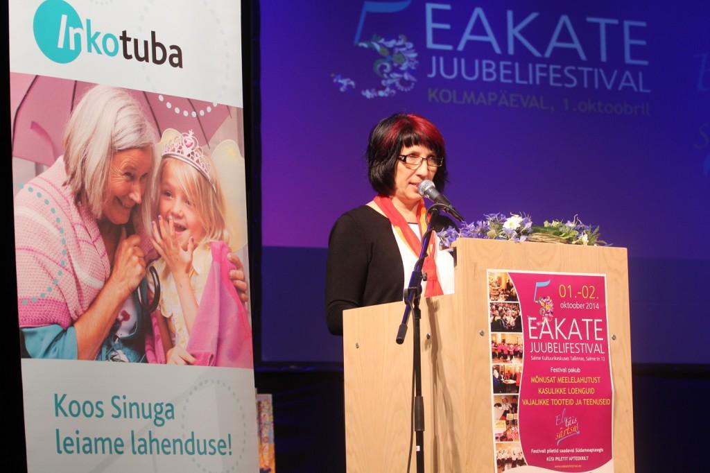 Eakate Festival 2014_festivali korraldaja Eha Topolev
