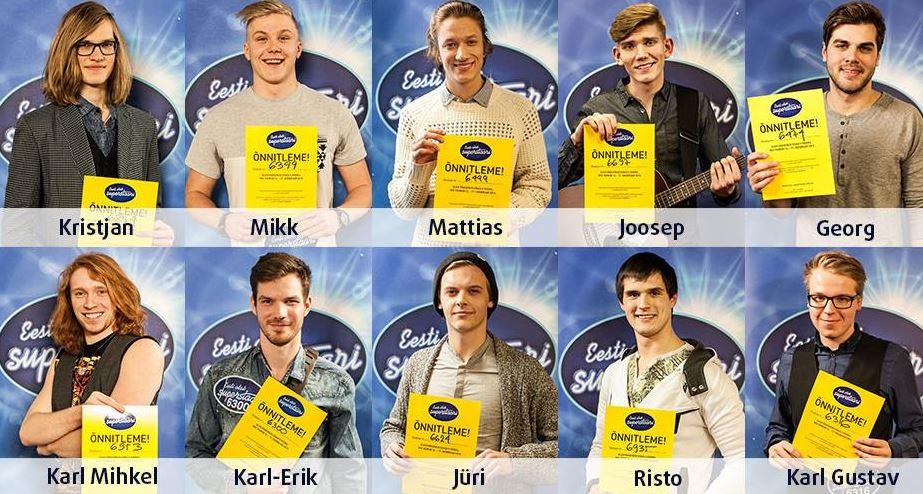 Rahvas valib homme kolm esimest superstaarisaate finalisti!