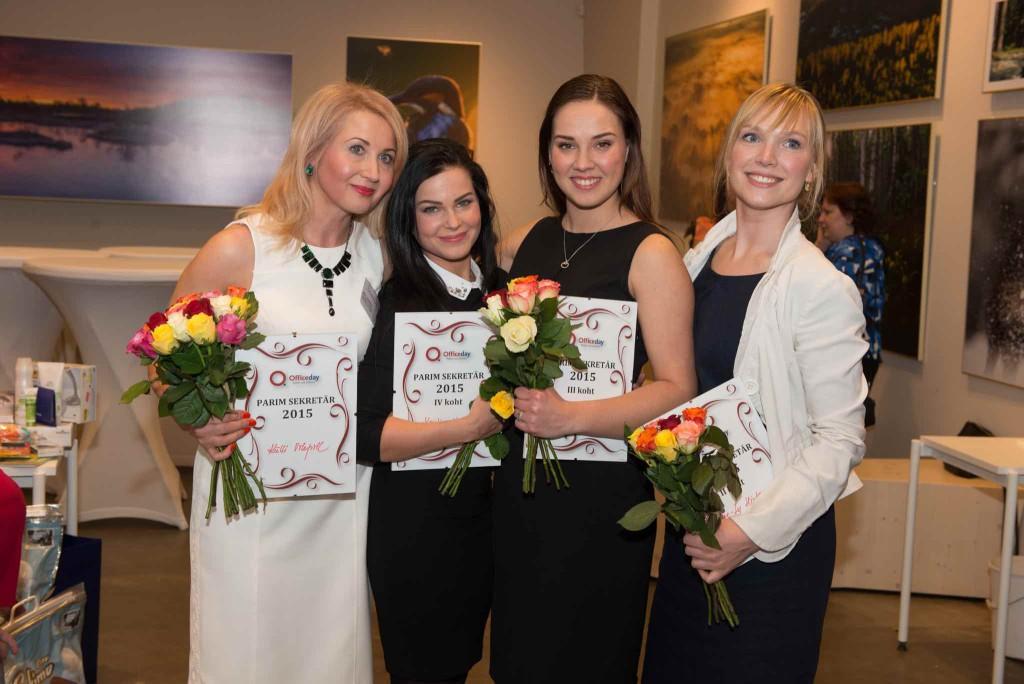 Parim sekretär 2015 esinelik vasakult - esikoht - Külli Vilepill, neljas koht - Kristina Nukka, kolmas koht - Carolyn Lizbeth Einmann, teine koht - Ave-Ly Hints