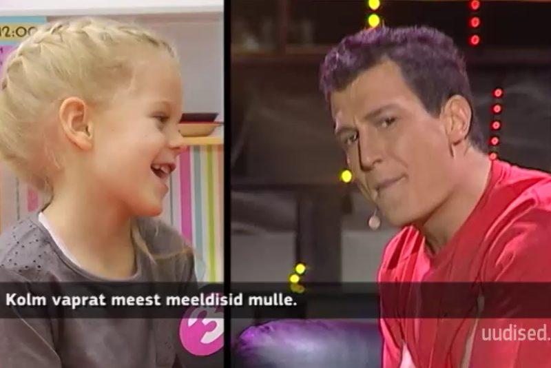 JUSSI SUURIM FÄNN! Näosaate finalisti Juss Haasma suurim fänn on tema 5-aastane tütar Miia
