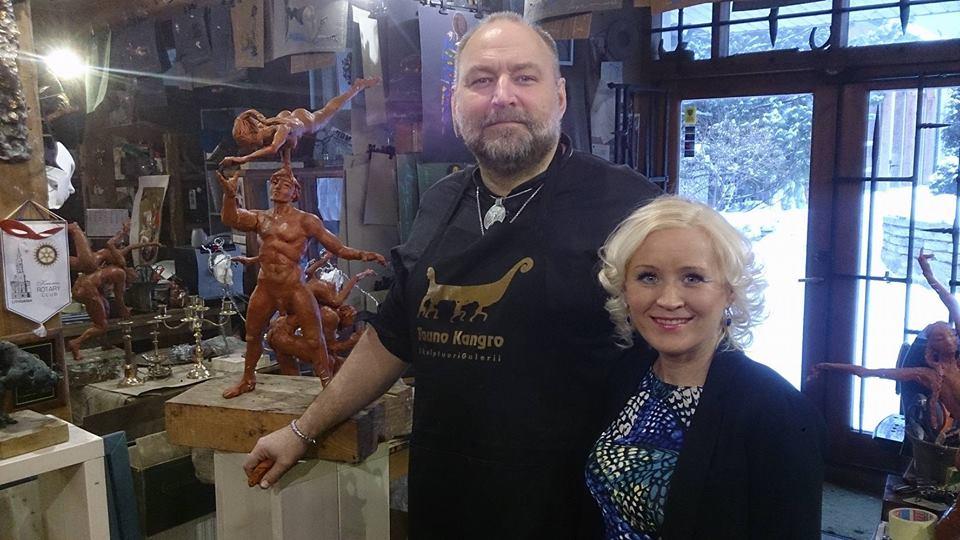VAATA SAATE KORDUST! Tallinna TV ja Kristiina Võsu jälgivad kunsti sündi skulptor Tauno Kangro ateljees