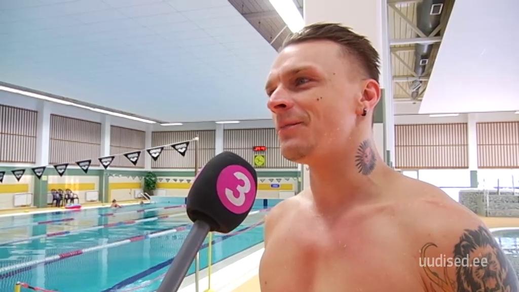 VIDEO! Tanel Padar esimese ujumistrenni järel: vett ma enam niipalju ei karda