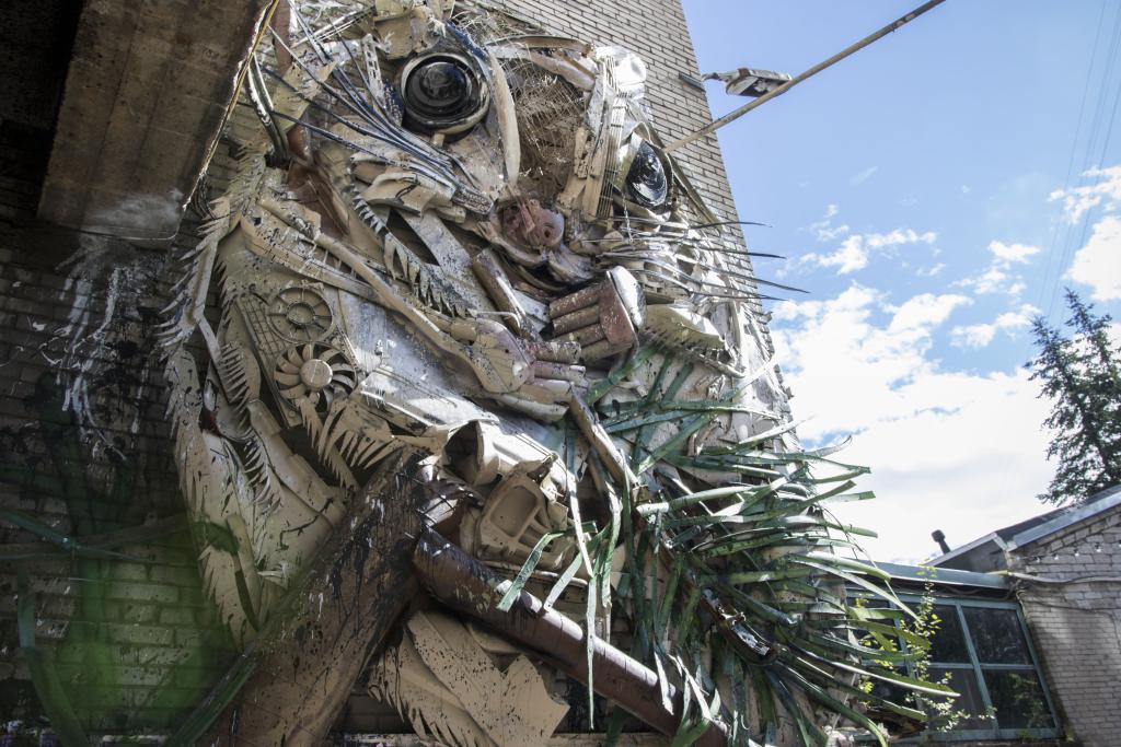 VAATA VIDEOT! Street Art Jami raames valmistati Telliskivi Loomelinnakusse prügist lendorav
