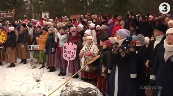 Üle 600 tantsija lustis tuhamägede vahel talvisel tantsupeol