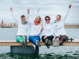 Merle Antson, Keili Sükijainen, Merlyn Uusküla ja Sandra Raju