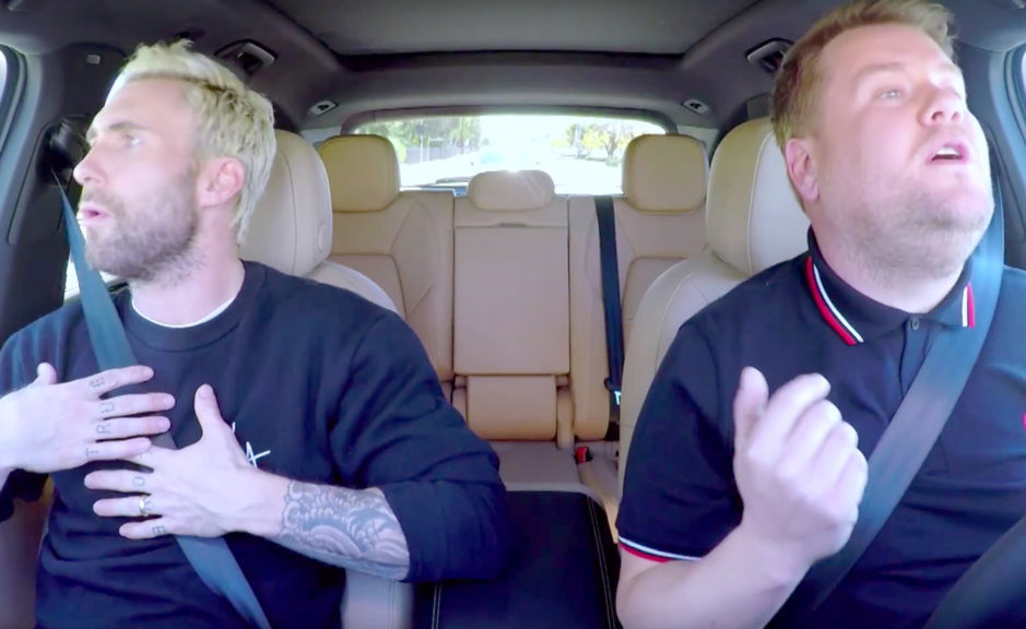"VIDEO! Adam Levine laulis ""Carpool Karaoket"""
