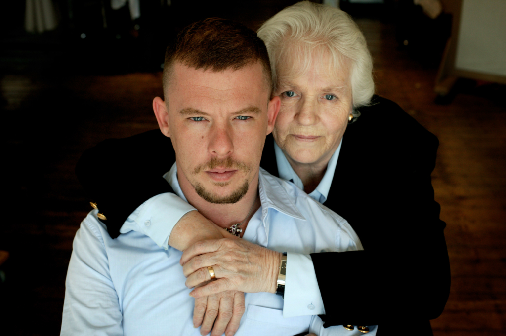 Alexander Mcqueen and his mother Joyce.  Photo by Dan Chung