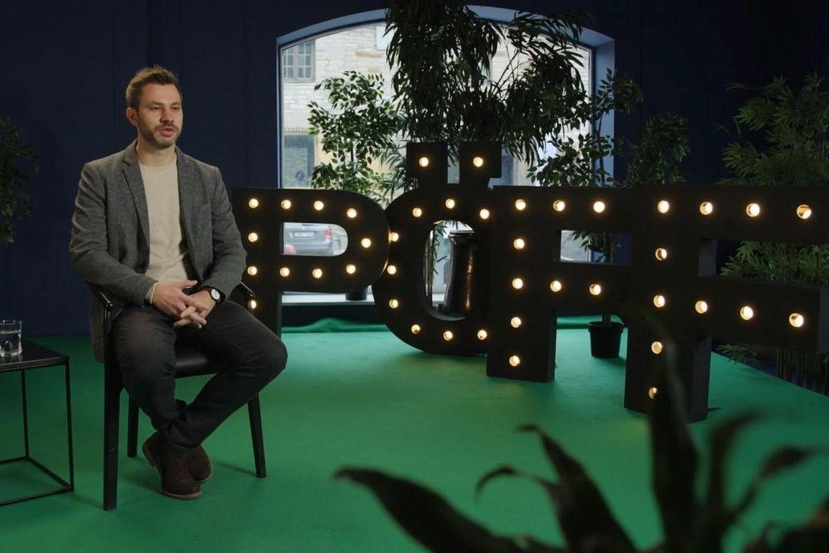 PÖFF TV stuudios filmi Olümpose modell režissöör Frédéric Hambalek. Foto repro